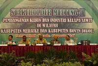 Pertemuan Para Pemangku Kepentingan Atas Praktek Industri Kelapa Sawit di Kabupaten Merauke dan Boven Digoel Papua