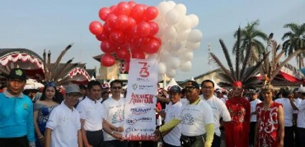 BUMN Hadir Untuk Negeri, Askrindo Dan Danareksa Gelar Jalan Sehat Di Kuala Kapuas
