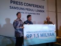 Samsung Electronics Indonesia Bersama PMI  Berikan bantuan untuk Lombok Senilai Rp 1,5 Milyar