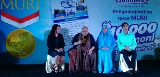 Kumpulkan 10 Ribu Testimoni, Confidence Raih Penghargaan Rekor MURI