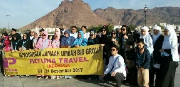 Jamaah Umroh Big Group Patuna Tiba di Jabal Uhud