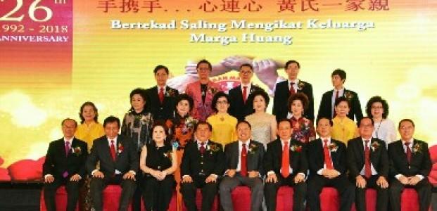 Peringatan Hut ke-26, Perkumpulan Marga Huang Jatim Lantik Ketua Baru