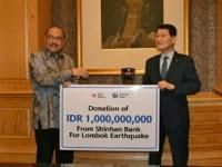 Peduli Bencana Lombok, SHINHAN Bank Berikan Bantuan Rp 1 Miliar Melalui PMI
