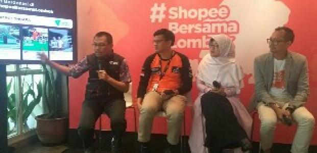 Shopee Galang Donasi untuk Pemulihan Gempa Lombok