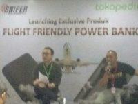 Pemberlakuan Regulasi Penerbangan, SNIPER Tawarkan Produk Power Bank Aman
