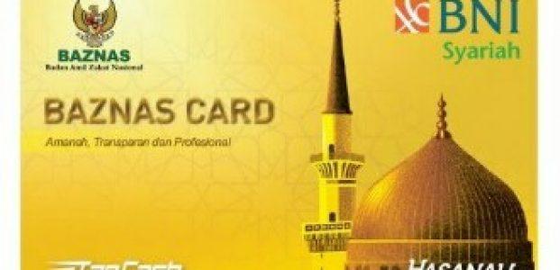 Permudah Pembayaran Zakat, BNI Syariah Terbitkan Kartu Tapcash Baznas