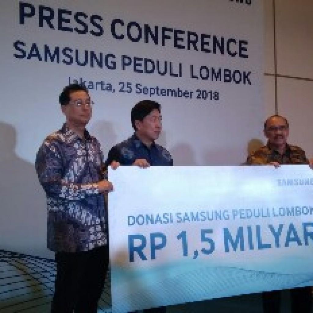 Samsung Electronics Indonesia Bersama Pmi Berikan Bantuan Untuk Rumah Peduli Korban Gempa Khusus 15 Jiwa Lombok Senilai Rp Milyar Libi