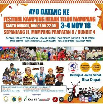 Festival Kampoeng Kerak Telor Hadirkan Nuansa Betawi