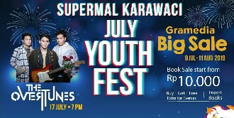 "Supermal Karawaci Sambut ""July Youth Festival"" Diiringi The Overtunes dan Monita Tahalea"