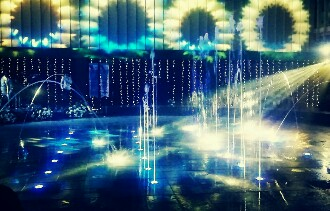 Tampil Memukau Musical Dancing Water Fountain TerasKota Mall