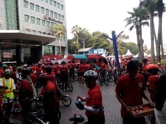 Peringati Hari Jantung Sedunia, YJI Gandeng Trans Media Hiasi Jakarta Dengan Funbike Heart Bike 2019
