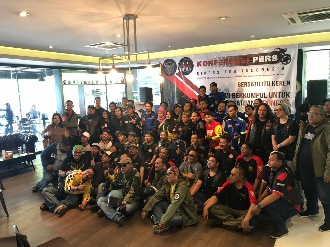 Komunitas Klub Bikers For Indonesia Kampanyekan Persatuan